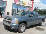 2007 Blue Granite Metallic Chevrolet Silverado 1500 LT Extended Cab 4x4 #53328015