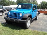 2011 Cosmos Blue Jeep Wrangler Unlimited Sport 4x4 #53364631