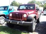 2012 Deep Cherry Red Crystal Pearl Jeep Wrangler Rubicon 4X4 #53364648