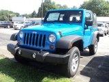 2012 Cosmos Blue Jeep Wrangler Sport 4x4 #53364650
