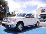 2011 White Platinum Metallic Tri-Coat Ford F150 Lariat SuperCrew #53409640