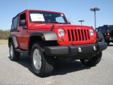 2011 Flame Red Jeep Wrangler Sport S 4x4 #53410218