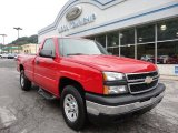 2007 Victory Red Chevrolet Silverado 1500 Work Truck Regular Cab 4x4 #53409743