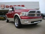 2009 Inferno Red Crystal Pearl Dodge Ram 1500 Laramie Crew Cab #53410255