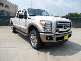 2012 White Platinum Metallic Tri-Coat Ford F250 Super Duty King Ranch Crew Cab 4x4 #53409781