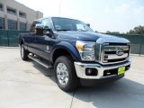 2012 Dark Blue Pearl Metallic Ford F250 Super Duty Lariat Crew Cab 4x4 #53409782
