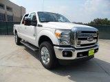 2012 White Platinum Metallic Tri-Coat Ford F250 Super Duty Lariat Crew Cab 4x4 #53409783