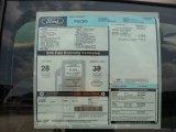 2012 Ford Focus S Sedan Window Sticker