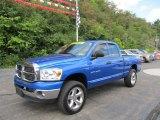 2007 Electric Blue Pearl Dodge Ram 1500 ST Quad Cab 4x4 #53410044