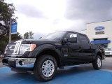 2011 Ebony Black Ford F150 Lariat SuperCrew 4x4 #53463335