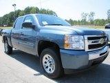 2011 Blue Granite Metallic Chevrolet Silverado 1500 LS Crew Cab #53463687