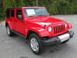 2012 Jeep Wrangler Unlimited Flame Red