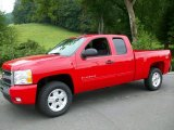2011 Victory Red Chevrolet Silverado 1500 LT Extended Cab 4x4 #53464041