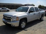 2011 Sheer Silver Metallic Chevrolet Silverado 1500 LT Crew Cab #53464071