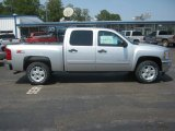 2011 Sheer Silver Metallic Chevrolet Silverado 1500 LT Crew Cab 4x4 #53464080