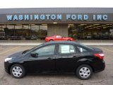 2012 Black Ford Focus S Sedan #53463738