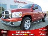 2008 Sunburst Orange Pearl Dodge Ram 1500 Big Horn Edition Quad Cab #53463462