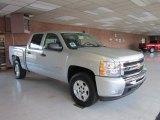 2011 Sheer Silver Metallic Chevrolet Silverado 1500 LT Crew Cab 4x4 #53410639