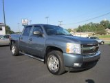 2008 Blue Granite Metallic Chevrolet Silverado 1500 LT Crew Cab 4x4 #53410644