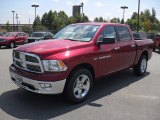 2012 Deep Cherry Red Crystal Pearl Dodge Ram 1500 Big Horn Crew Cab 4x4 #53464134