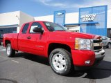 2011 Victory Red Chevrolet Silverado 1500 LT Extended Cab 4x4 #53463520