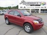 2009 Spicy Red Kia Sorento LX 4x4 #53463832