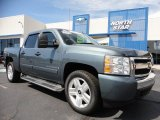2008 Blue Granite Metallic Chevrolet Silverado 1500 LT Crew Cab 4x4 #53463529
