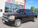 2009 Dark Cherry Red Metallic Chevrolet Silverado 1500 LT Extended Cab 4x4 #53464171