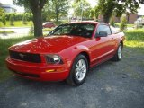 2007 Torch Red Ford Mustang V6 Deluxe Coupe #53463570