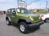 2010 Rescue Green Metallic Jeep Wrangler Sport 4x4 #53544858