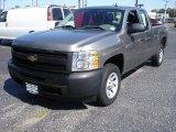 2009 Graystone Metallic Chevrolet Silverado 1500 Extended Cab #53544913