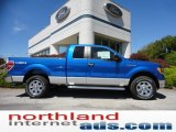 2011 Blue Flame Metallic Ford F150 XLT SuperCab 4x4 #53544954