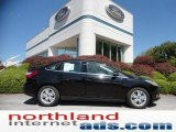 2012 Black Ford Focus SEL Sedan #53544958