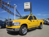 2008 Detonator Yellow Dodge Ram 1500 Big Horn Edition Quad Cab 4x4 #53545164