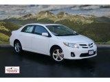 2011 Super White Toyota Corolla LE #53598254