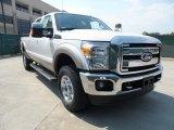 2012 White Platinum Metallic Tri-Coat Ford F250 Super Duty Lariat Crew Cab 4x4 #53598540