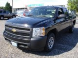 2008 Black Chevrolet Silverado 1500 Work Truck Extended Cab #53598282