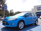 2012 Blue Candy Metallic Ford Focus SE Sport Sedan #53621739
