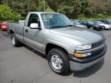 2000 Light Pewter Metallic Chevrolet Silverado 1500 LS Regular Cab 4x4 #53621836