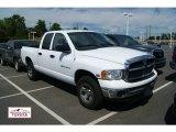 2004 Bright White Dodge Ram 1500 SLT Quad Cab 4x4 #53621539