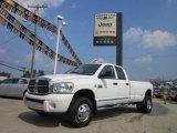 2009 Bright White Dodge Ram 3500 Laramie Quad Cab 4x4 Dually #53621872
