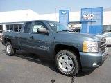 2011 Blue Granite Metallic Chevrolet Silverado 1500 LT Extended Cab 4x4 #53639780