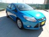 2012 Blue Candy Metallic Ford Focus SE 5-Door #53651187