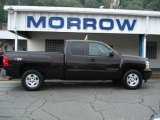 2009 Dark Cherry Red Metallic Chevrolet Silverado 1500 LT Extended Cab 4x4 #53651133