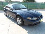 2002 True Blue Metallic Ford Mustang V6 Coupe #53651198