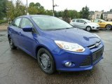 2012 Sonic Blue Metallic Ford Focus SE Sedan #53665491