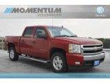 2008 Victory Red Chevrolet Silverado 1500 LT Crew Cab #53673428