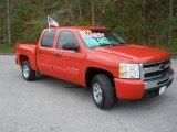 2010 Victory Red Chevrolet Silverado 1500 LS Crew Cab #53673161