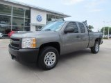 2008 Graystone Metallic Chevrolet Silverado 1500 Work Truck Extended Cab #53672002