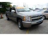2007 Graystone Metallic Chevrolet Silverado 1500 LS Crew Cab #53672908
